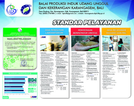 Standar Pelayanan Balai Produksi Induk Udang Unggul dan Kekerangan Karangasem Bali